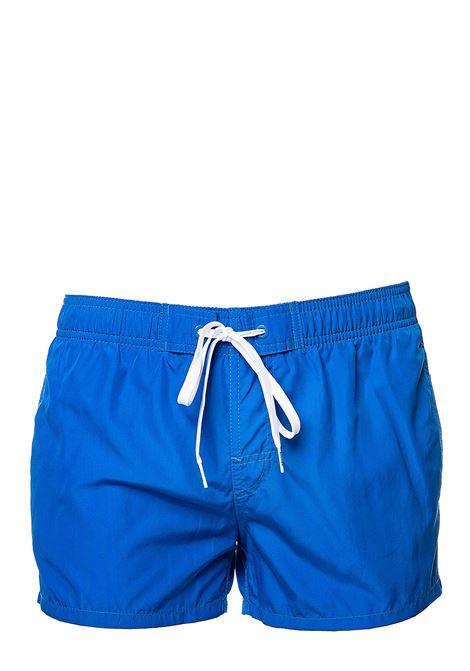 COSTUME BLU CON APPLICAZIONE LOGO SUL RETRO SUNDEK | Costumi | M467BDP0300089