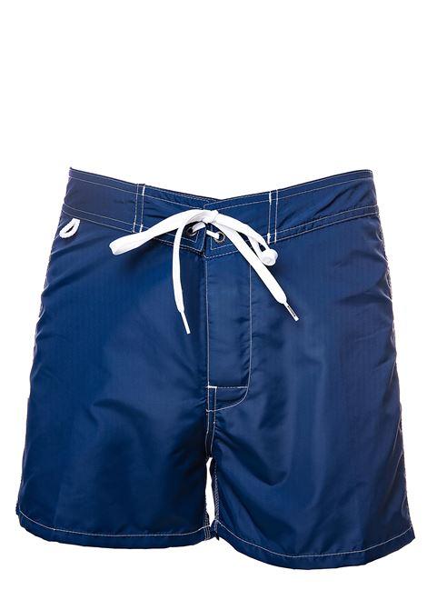 COSTUME BLU CON APPLICAZIONE LOGO SUL RETRO SUNDEK | Costumi | M502BDTA100304