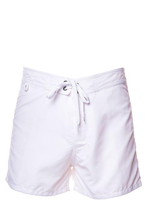 COSTUME BIANCO CON APPLICAZIONE LOGO SUL RETRO SUNDEK | Costumi | M502BDTA100305