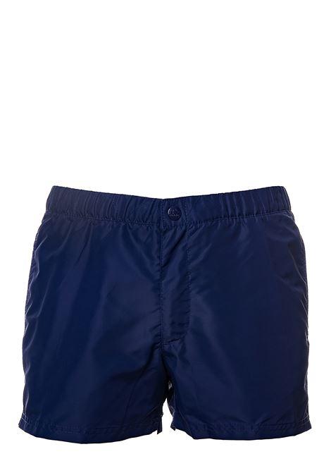 COSTUME BLU CON APPLICAZIONE LOGO SUL RETRO SUNDEK | Costumi | M520BDTA100411
