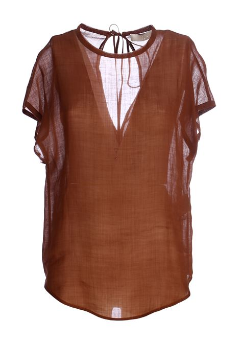 RAMIE 'PREMIUM BROWN BLOUSE TELA | Blouse | 172171019887K001
