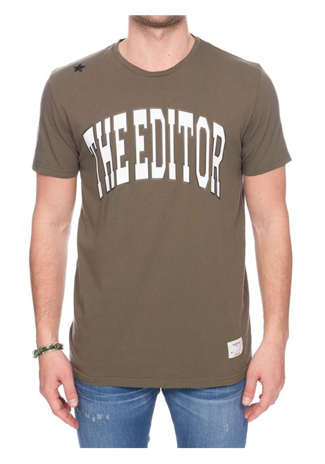 REAL COTTON T-SHIRT WITH FRONT LOGO PRINT THE EDITOR | T-shirt | E80600N17100053