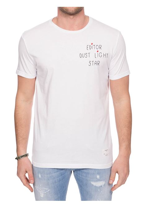 WHITE COTTON T-SHIRT WITH FRONT EMBROIDERY THE EDITOR | T-shirt | E80600N18100001