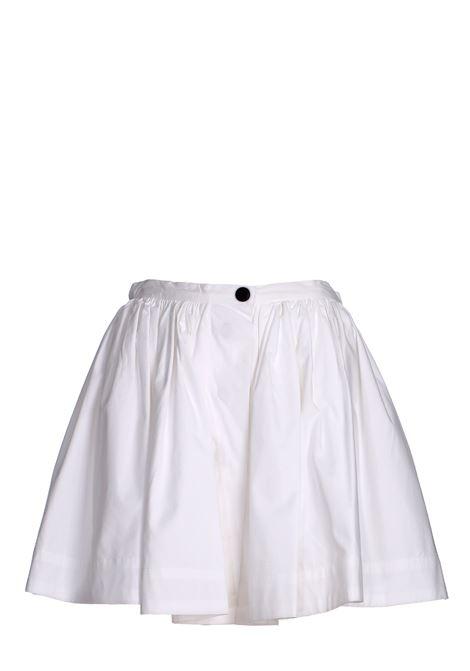 WHITE MINISKIRT IN COTTON POPLIN weili zheng | Skirts | SWZPG54W01