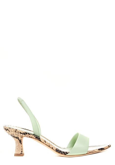 PYTHON GREEN SANDAL SYRIA MODEL 3JUIN | Sandals | G21SC002.I.0458Z57TIFFANY+ECRU