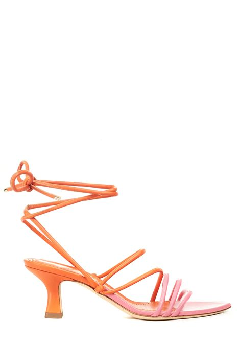 DOUBLE COLOR SANDAL DAFNE GLOVE MODEL 3JUIN | Sandals | G21SC003.I.0329Z60ORANGE