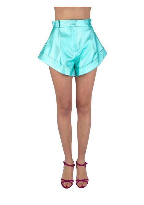 SHORTS ASIMMETRICO IN SIMILPELLE ACTUALEE | Shorts | 000025TURCHESE