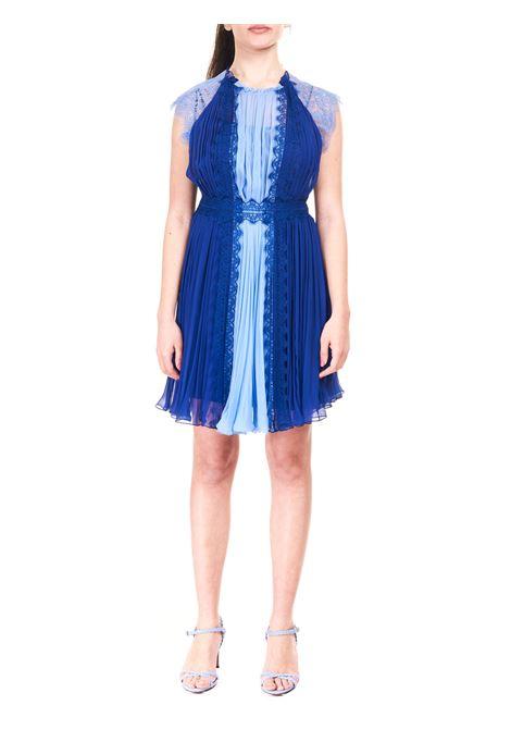 MINI DRESS IN BLUE SILK CHIFFON ALBERTA FERRETTI |  | 044016141288