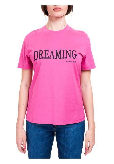 T-SHIRT DREAMING FUCSIA IN COTONE ALBERTA FERRETTI | T-shirt | 070216600238