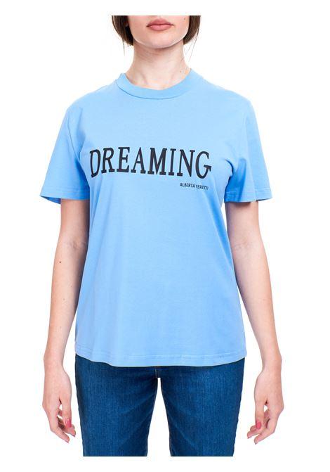 T-SHIRT DREAMING AZZURRA IN COTONE ALBERTA FERRETTI | T-shirt | 070216600303