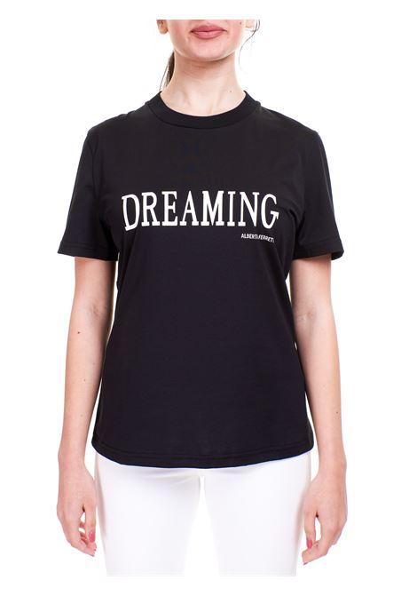 T-SHIRT DREAMING NERA IN COTONE ALBERTA FERRETTI | T-shirt | 070216600555