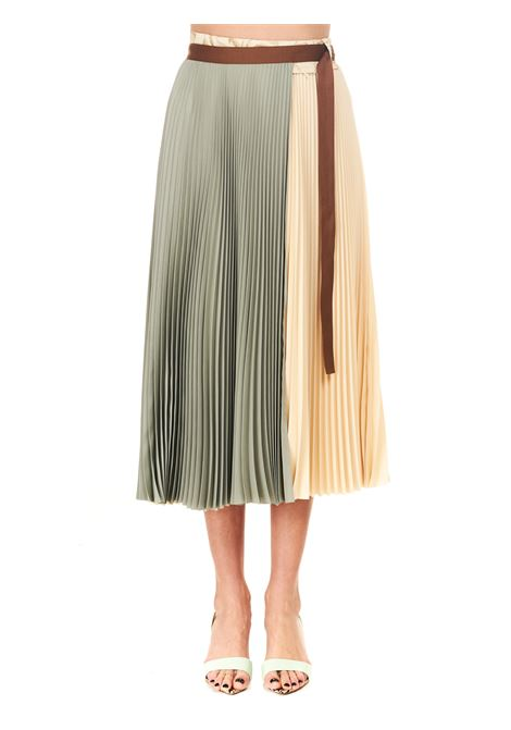 SKIRT IN CREPES WITH PLEATED WALLET ALYSI | Skirts | 101018P1032SALVIA