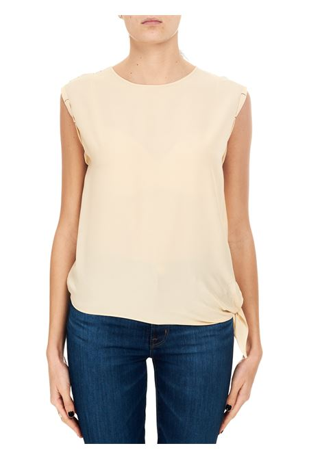 BLUSA IN CREPE BEIGE ALYSI | Top | 101211P1032BEIGE