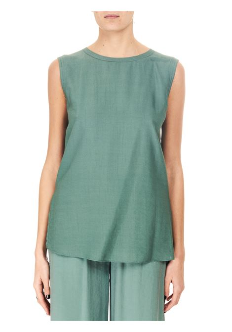 TOP VERDE IN CREPE ALYSI | Top | 101230P1043EUCALIPTO