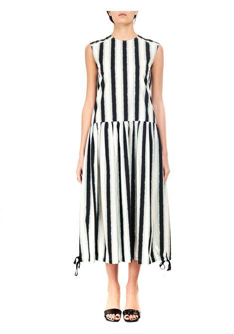 LONG DRESS IN PRINTED COTTON ALYSI | Dress | 101328P1024SALVIA