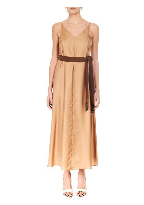 LONG DRESS IN SILK TWILL ALYSI | Clothes | 101357P1239NUDO
