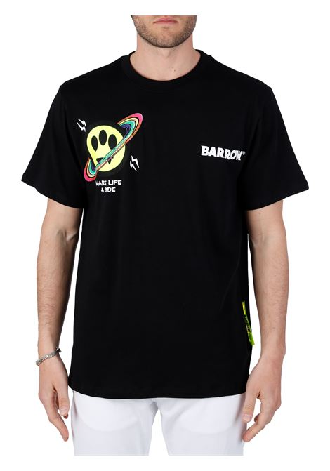 BLACK T-SHIRT WITH FRONT LOGO BARROW |  | 029133110