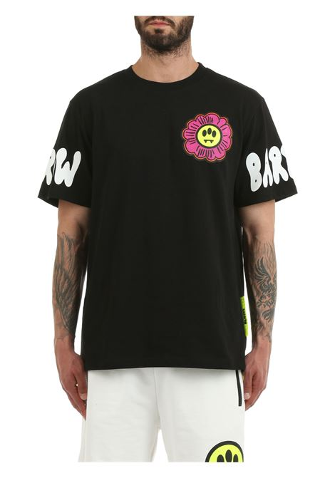 T-SHIRT NERA CON LOGO FRONTALE BARROW | T-shirt | 029143110