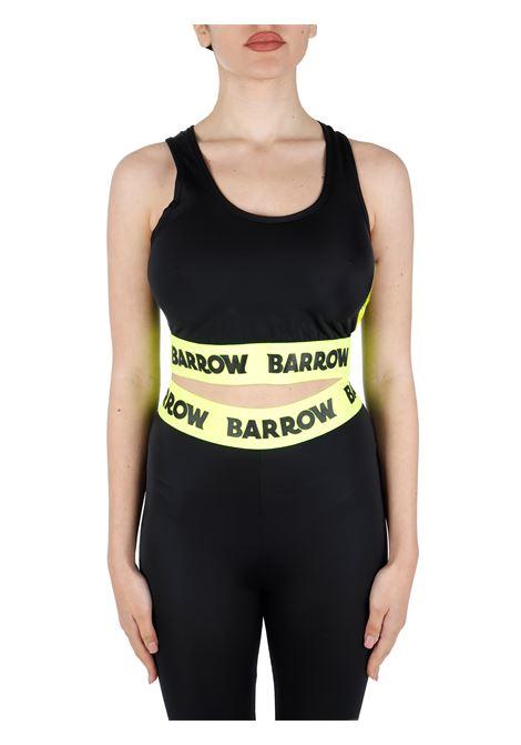TOP CROP NERO CON FASCIA FLUO BARROW | Top | 029289110