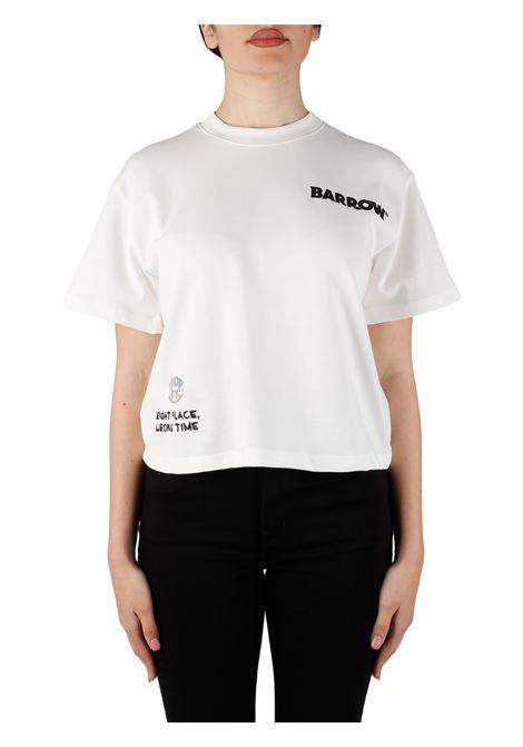 T-SHIRT CROP CON STAMPA SU RETRO BARROW | T-shirt | 029451002