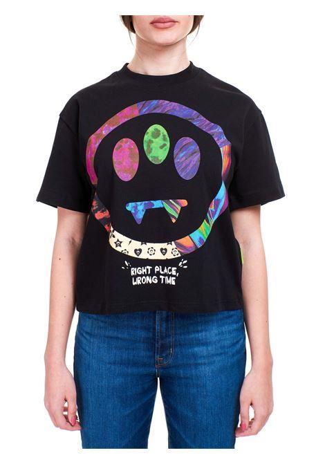 T-SHIRT NERA CROP IN COTONE BARROW | T-shirt | 029453110