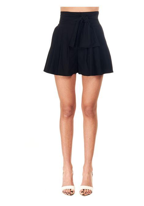 HIGH WAIST BLACK COTTON BLEND BERMUDA BOUTIQUE MOSCHINO | Shorts | 030908220555