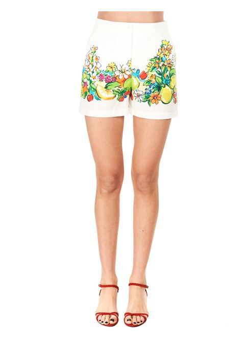WHITE PRINTED SHORTS BOUTIQUE MOSCHINO | Shorts | 031508411002