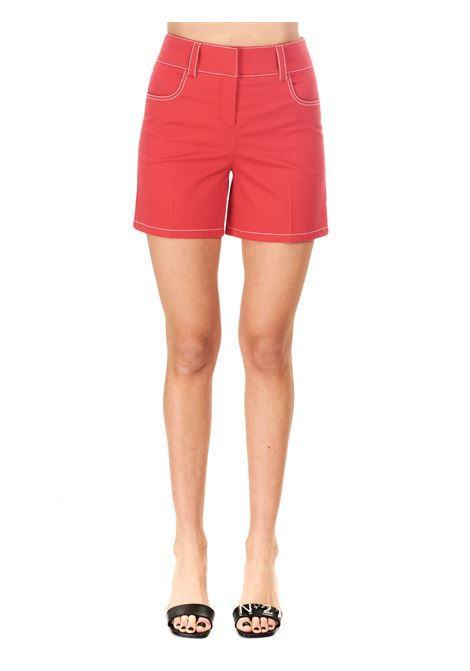 SHORTS ROSSO IN COTONE BOUTIQUE MOSCHINO | Shorts | 032111201202