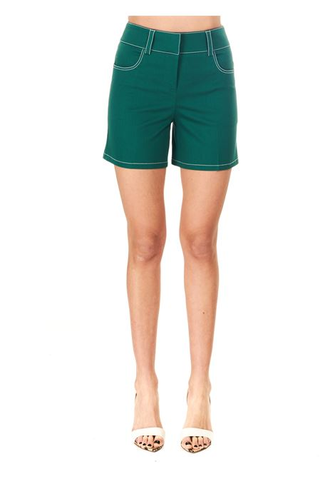 SHORTS VERDE IN COTONE BOUTIQUE MOSCHINO | Shorts | 032111201387