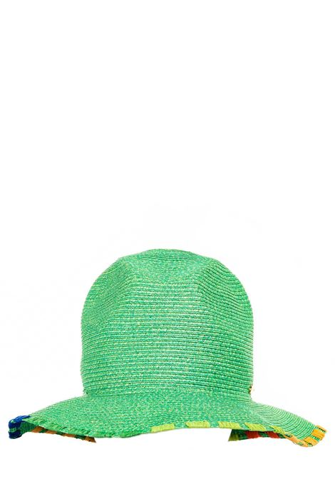 GREEN HAT WITH CONTRASTING BORDER CATARZI |  | P21CAT49MENTA
