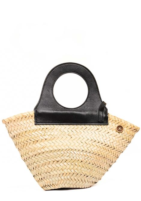 STRAW SHOPPER WITH LEATHER HANDLES CATARZI |  | P21CAT64NATNER