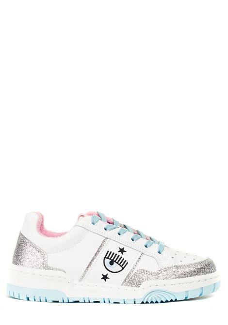 SNEAKERS IN PELLE LOGOMANIA CHIARA FERRAGNI | Sneakers | CF2800004ABIANCO