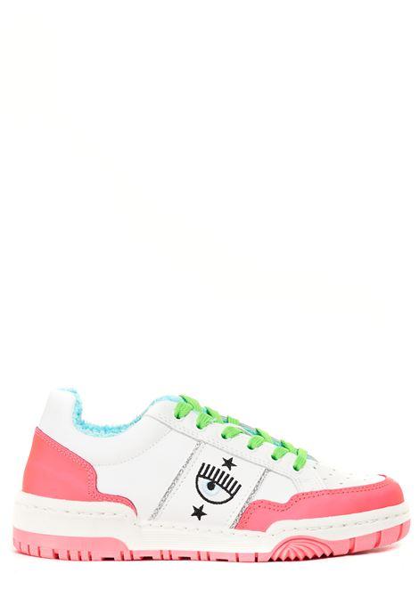 SNEAKERS IN PELLE LOGOMANIA CHIARA FERRAGNI | Sneakers | CF2800037AROSA