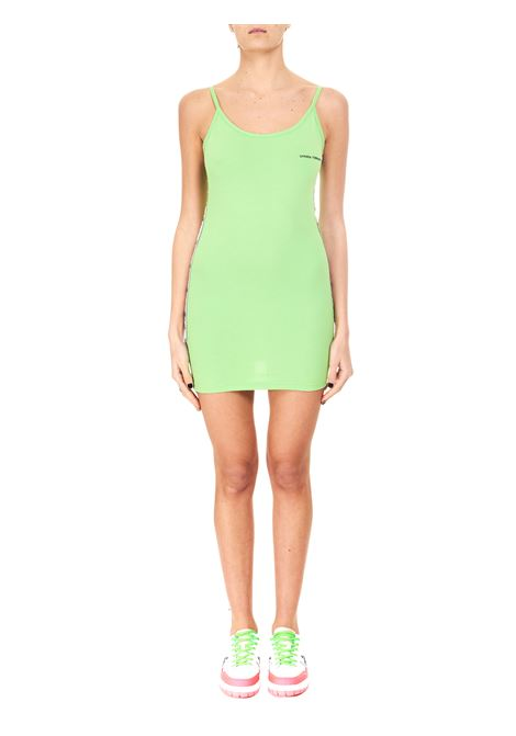 LOGOMANIA MINI DRESS IN COTTON CHIARA FERRAGNI | Dress | CFDR050GREEN FLASH