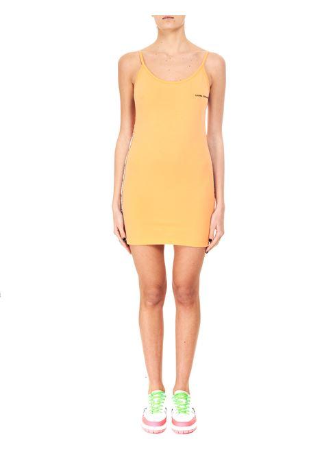LOGOMANIA MINI DRESS IN COTTON CHIARA FERRAGNI | Dress | CFDR050SCARLET IBIS