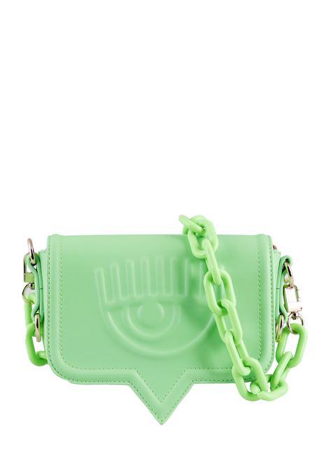 SMALL GREEN LEATHER BAG EYELIKE MODEL CHIARA FERRAGNI |  | CFPT012VERDE