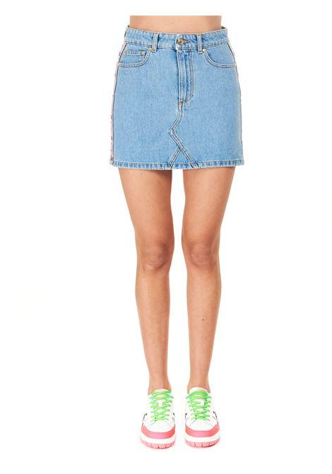 COTTON DENIM MINI SKIRT CHIARA FERRAGNI | Skirts | CFST050JEANS