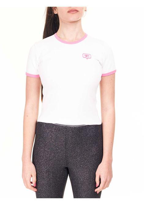 T-SHIRT EYELIKE IN COTONE CHIARA FERRAGNI | T-shirt | CFT122BIANCO