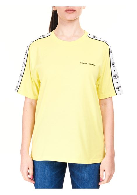 T-SHIRT LOGOMANIA GIALLA IN COTONE CHIARA FERRAGNI | T-shirt | CFT124LIMELIGHT