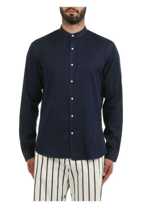 CAMICIA BLU MODELLO DOMENICO IN COTONE COSTUMEIN | Camicie | Q16UNICO