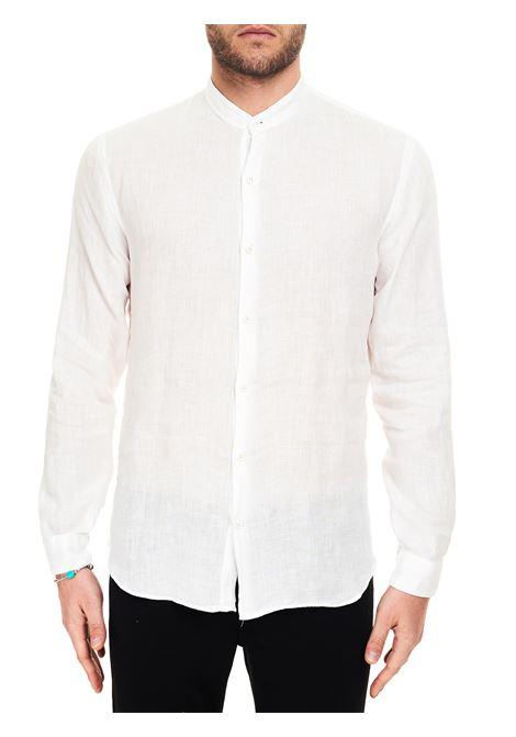 WHITE LINEN DOMENICO SHIRT COSTUMEIN      Q20-5NATURALE