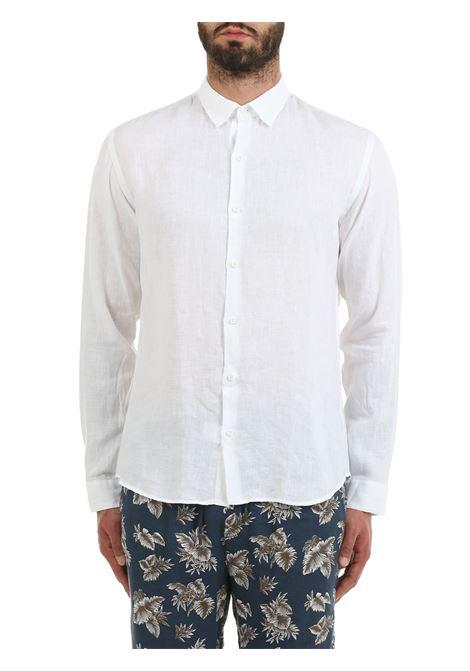 CAMICIA BIANCA MODELLO DOMENICO IN LINO COSTUMEIN | Camicie | Q20NATURA