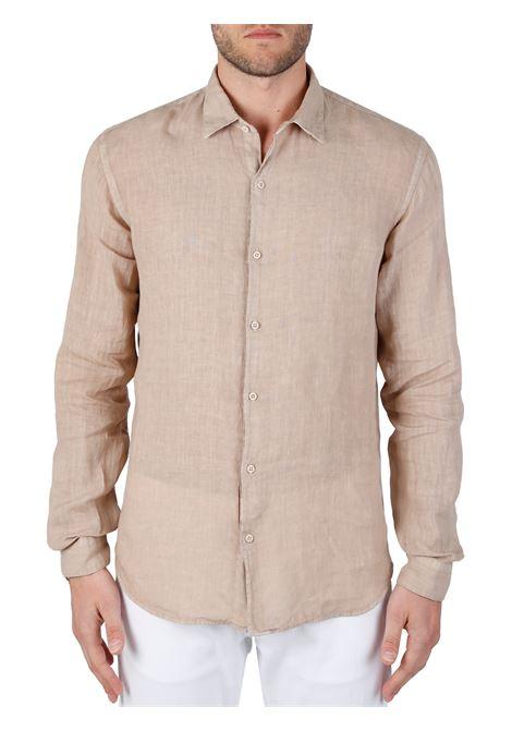 CAMICIA BEIGE MODELLO DOMENICO IN LINO COSTUMEIN | Camicie | Q20SABBIA