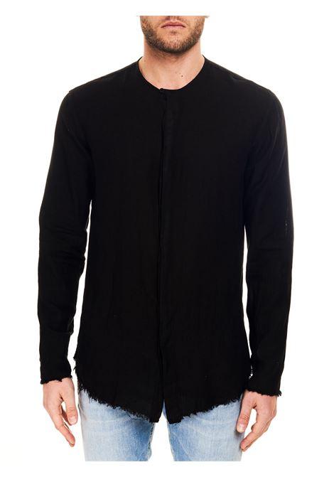 CAMICIA NERA MODELLO DODO IN LINO COSTUMEIN | Camicie | Q27CARBONE