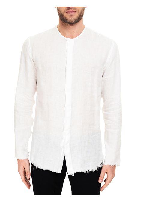 CAMICIA BIANCA MODELLO DODO IN LINO COSTUMEIN | Camicie | Q27NATURALE