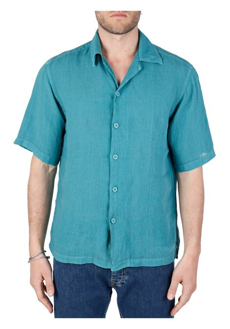CAMICIA IN LINO VERDE MODELLO ROBIN COSTUMEIN | Camicie | Q28COOCEANO