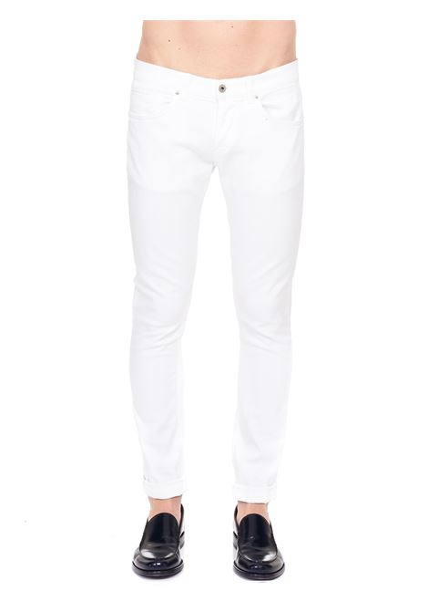 WHITE COTTON JEANS MODEL GEORGE SKINNY FIT DONDUP | Jeans | UP232BS0030PTDDUS21000
