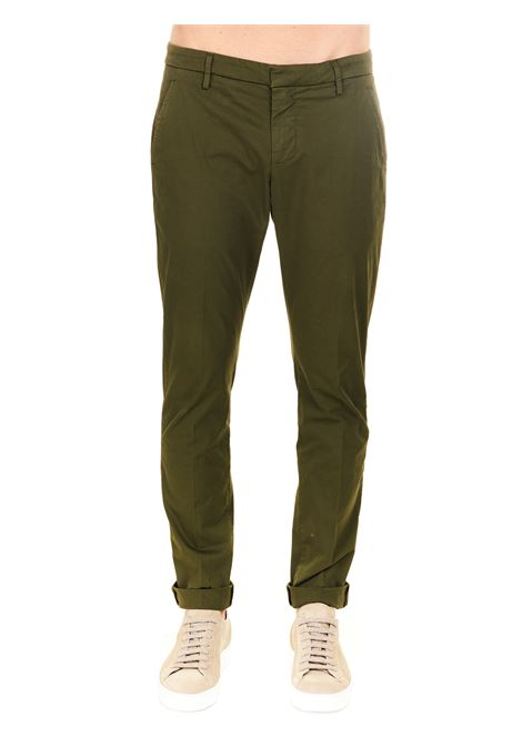 GREEN TROUSERS IN COTTON GABARDINE GAUBERT MODEL DONDUP |  | UP235GSE046PTDDUS21633