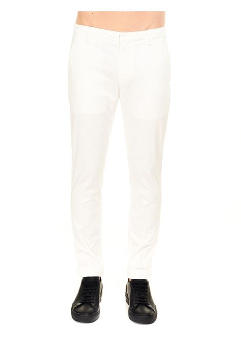 PANTALONE GAUBERT BIANCO IN GABARDINA STRETCH DONDUP | Pantaloni | UP235RSE036PTDDUS21001