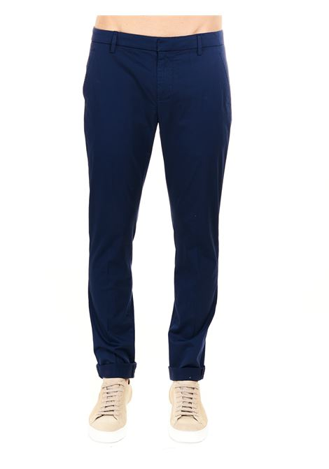 PANTALONE GAUBERT BLU IN GABARDINA STRETCH DONDUP | Pantaloni | UP235RSE036PTDDUS21815